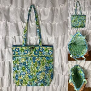Vera Bradley English Meadow classic quilted tote